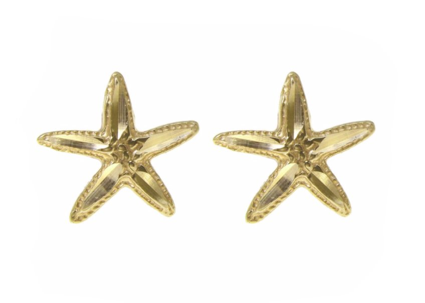 Gold Ear > StarFish Post Earring