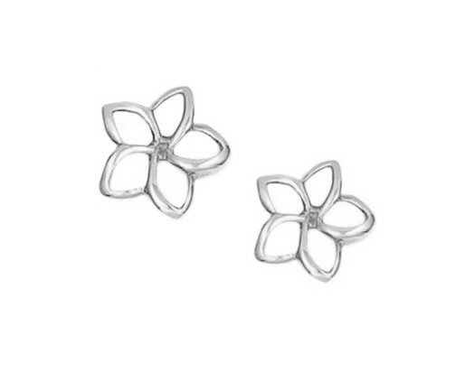 Gold Ear > Plumeria Post Earring (7mm Cut out Open style)