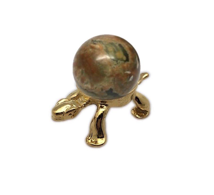Rock > Rhyolite Sphere with Turtle Holder