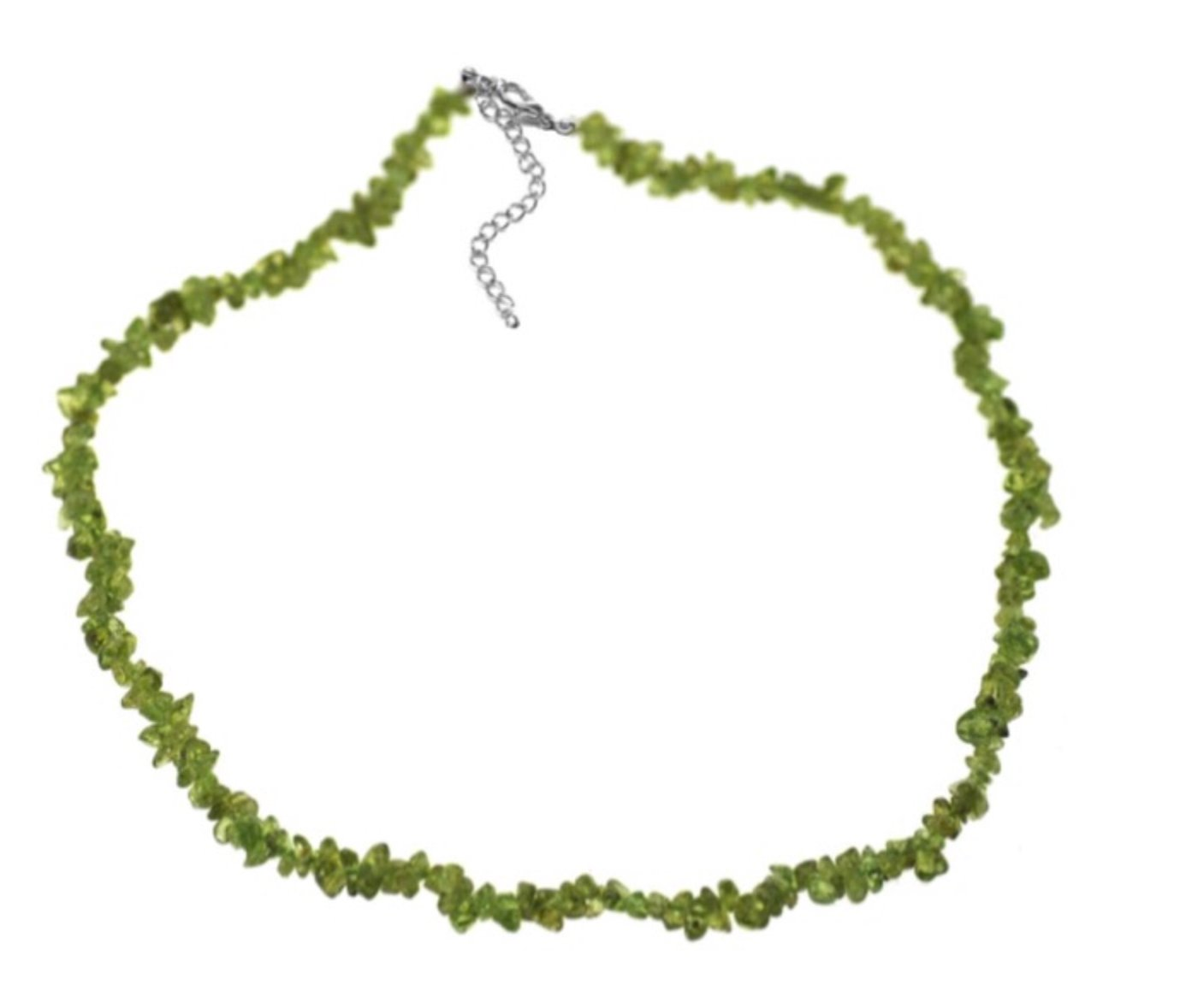 """Peridot Nugget Chip Necklace (18"""")"""