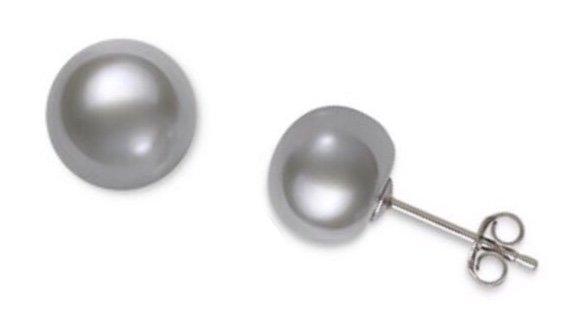 Ear > Pearl Post SILVER Earring (10mm)