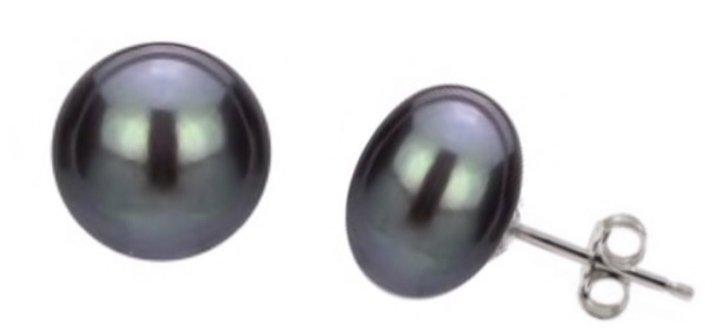 Ear > Pearl Post BLACK Earring