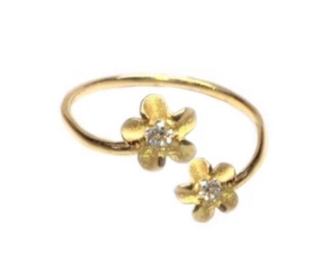 Ring > Plumeria Flower & Plumeria Flower Ring / Toe Ring - Gold
