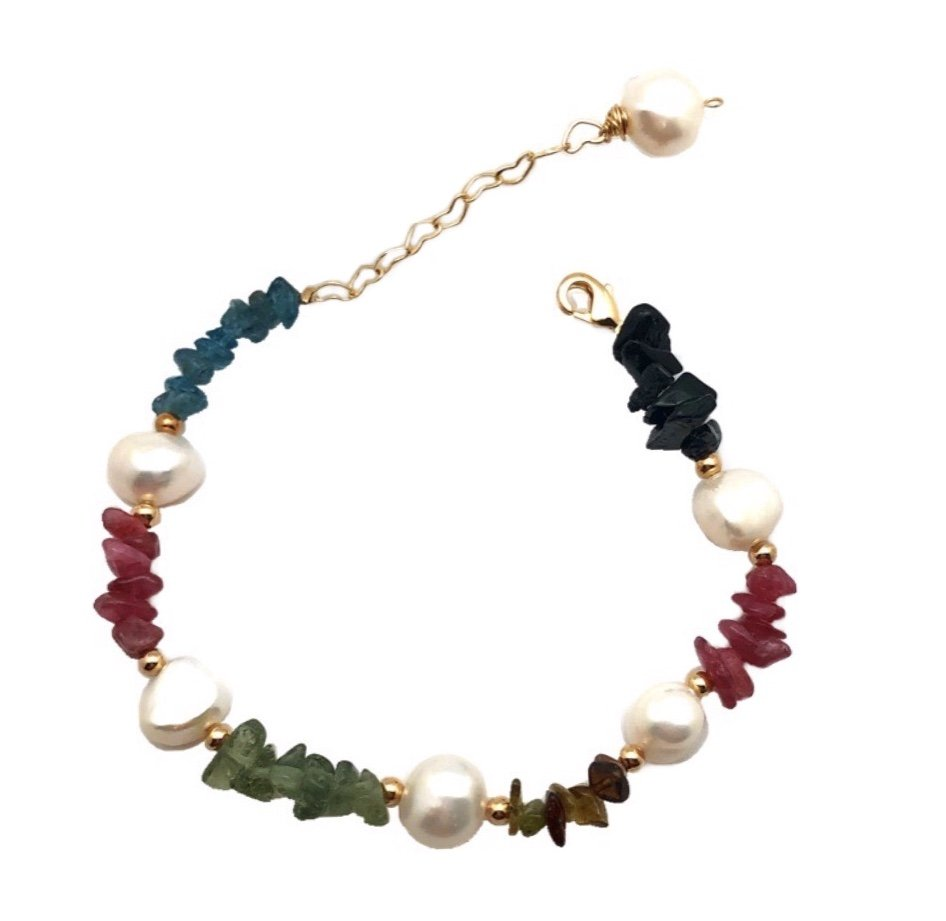 Brac > Pearl with Tourmaline Bracelet