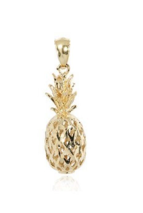Gold Pend > Pineapple Pendant