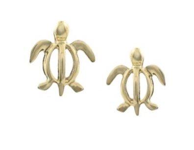 Gold Ear > Turtle Petro Post Earring