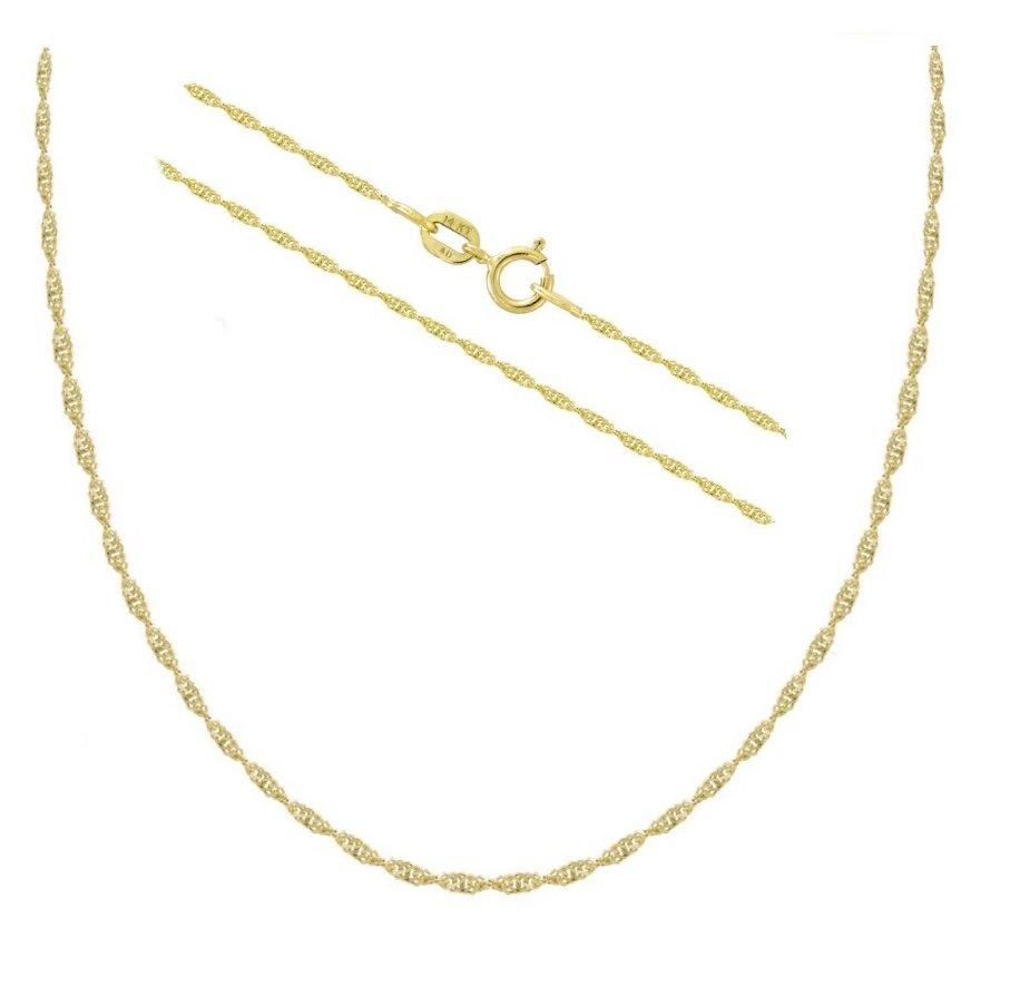 "GOLD Chain (Singapore Chain - 18"") - Yellow Gold"