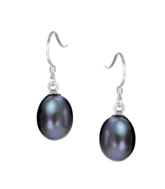 Ear > Pearl Dangle Black Earring