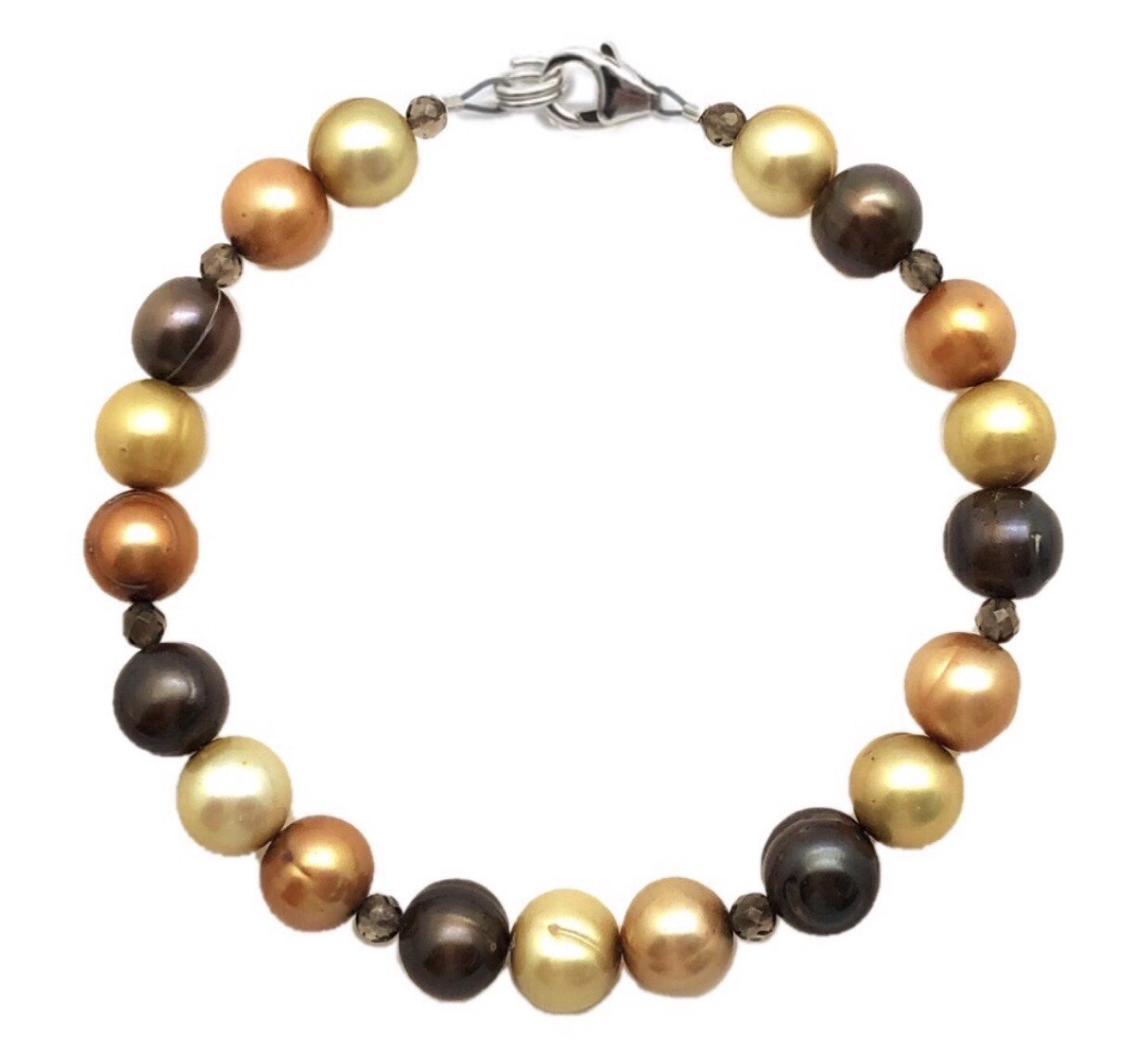 Pearl (Chocolate, Champagne, Golden color) Bracelet