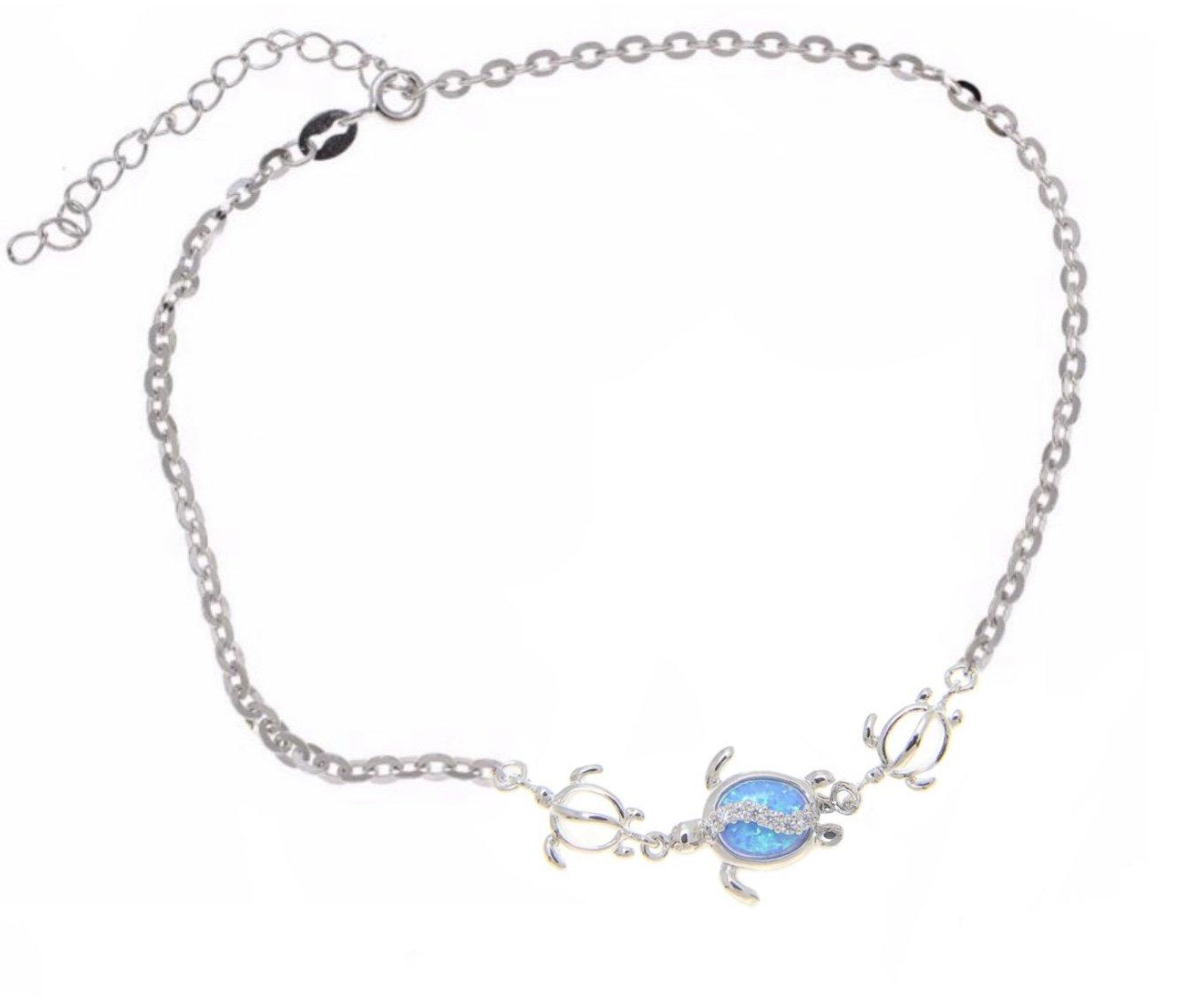 Opal Turtle Family Anklet / Bracelet