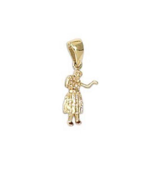 Gold Pend > Hula Girl moveable Pendant