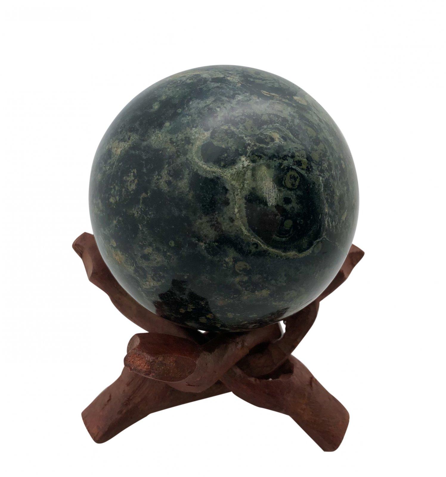 "Rock > Kambaba ""Crocodile Rock"" Sphere Shape Stone"
