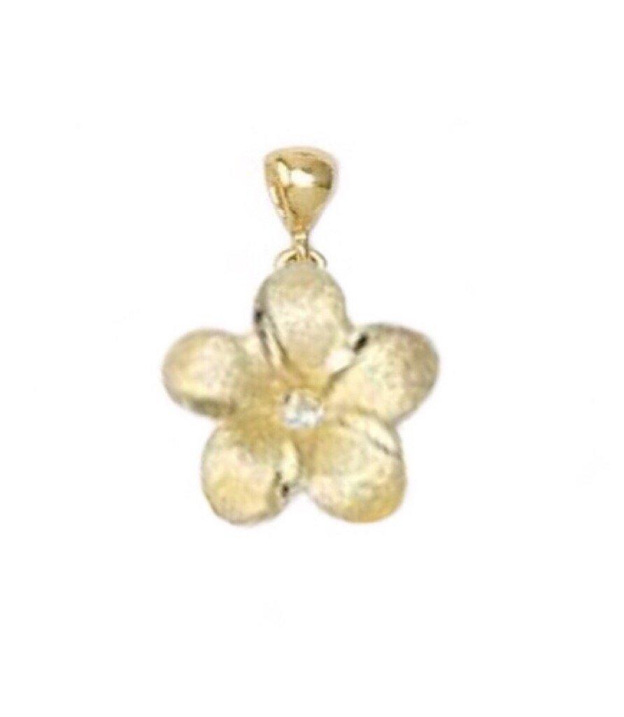 Gold Pend > Plumeria Pendant