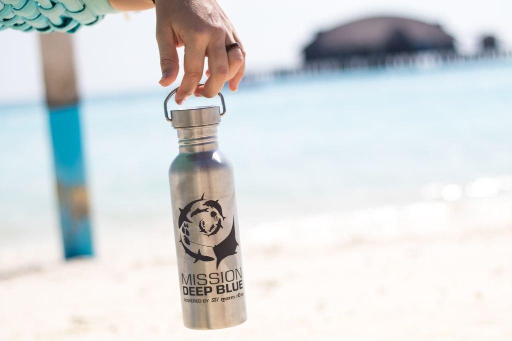 Reusable Water Bottle, Msn Deep Blue