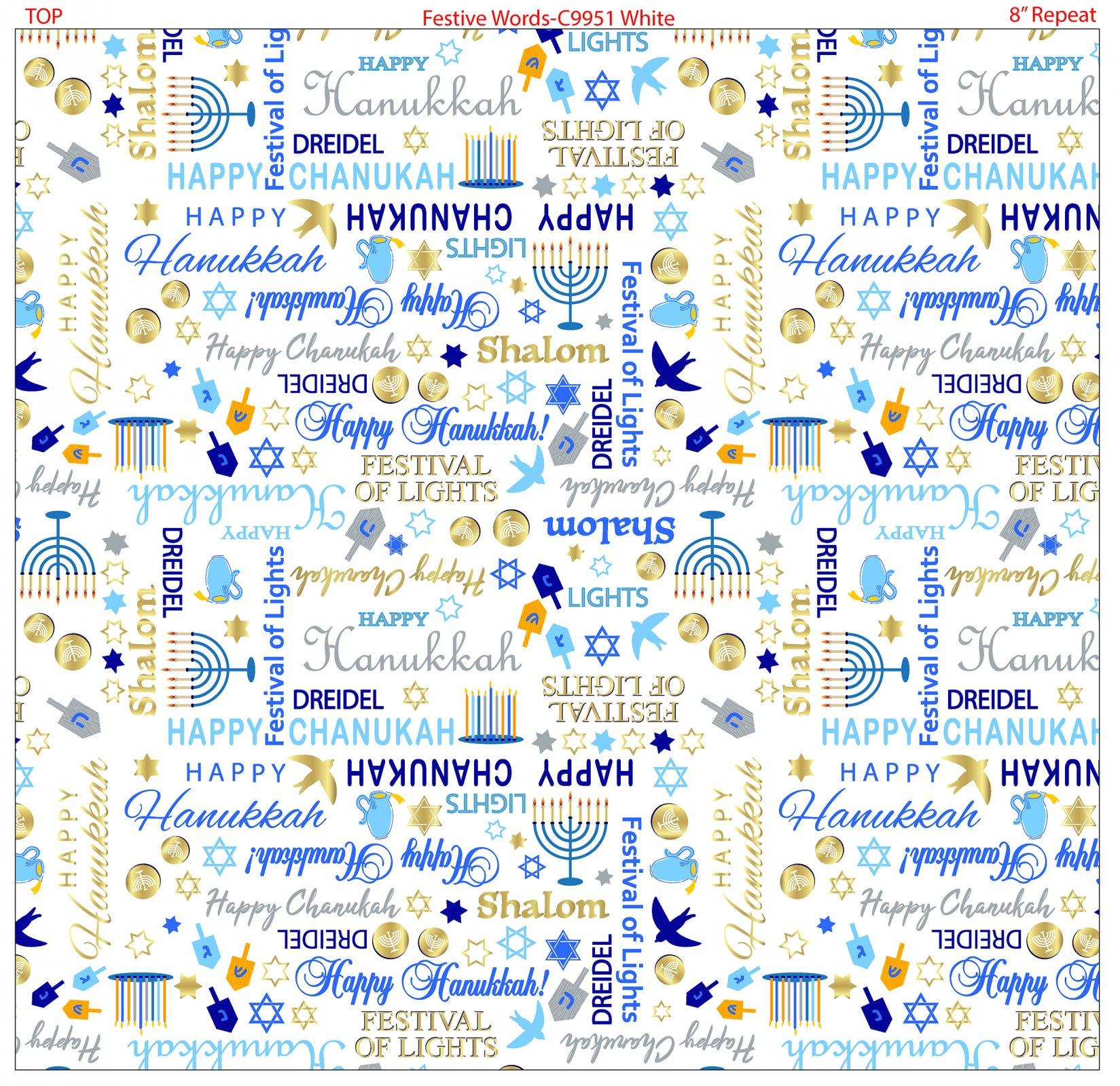 Festive Words 9951-09 White