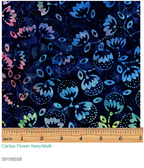 Cactus Flower Navy Multi 915855B