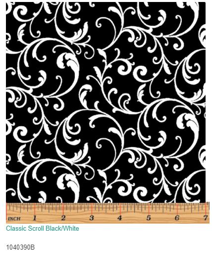 Classic Scroll Black/White  10403-90