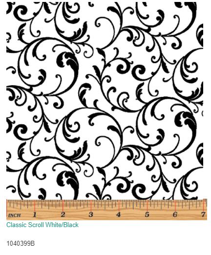 Classic Scroll White Black  10403-99