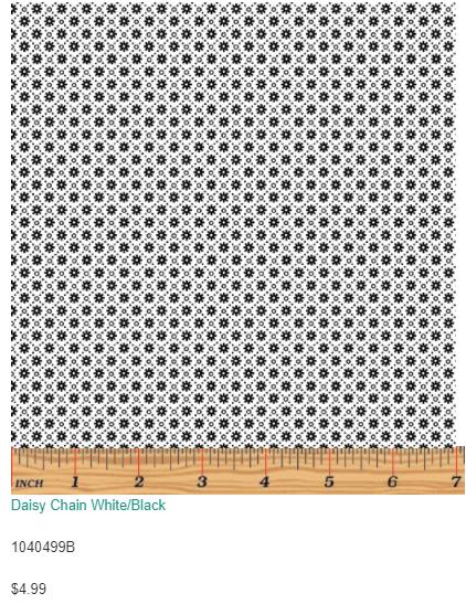 Daisy Chain White/Black 10404-99
