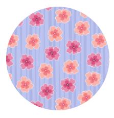 Floral Stripe Lilac  10294-60