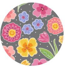 Full Bloom Floral Grey  10291-11