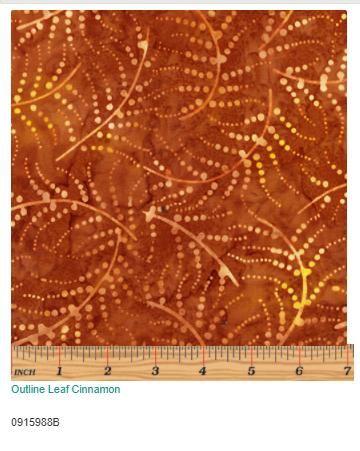 Outline Leaf Cinammon  0915988B
