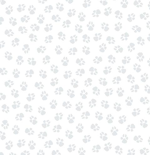 Paw Prints White/Light Grey