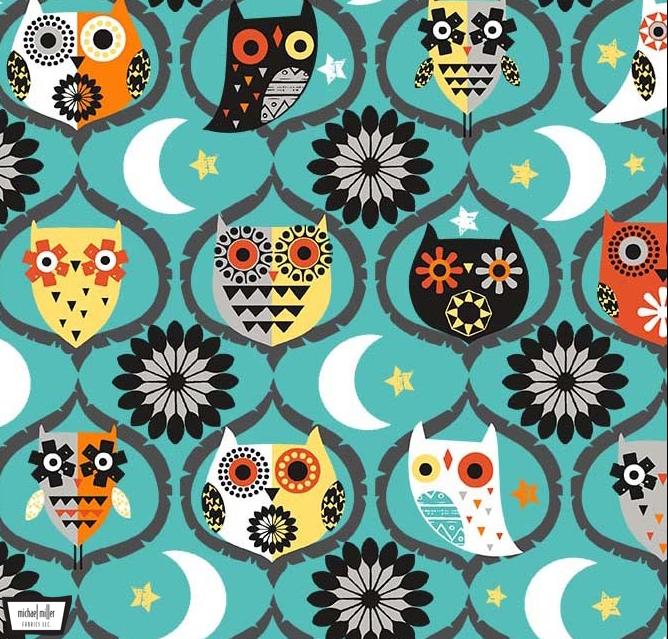 Owl Night Long Teal