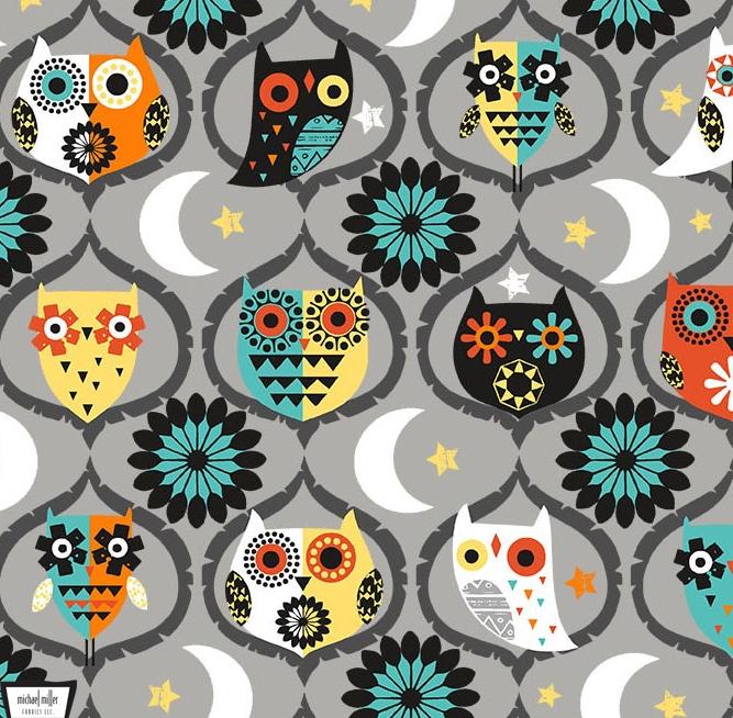 Owl Night Long Gray