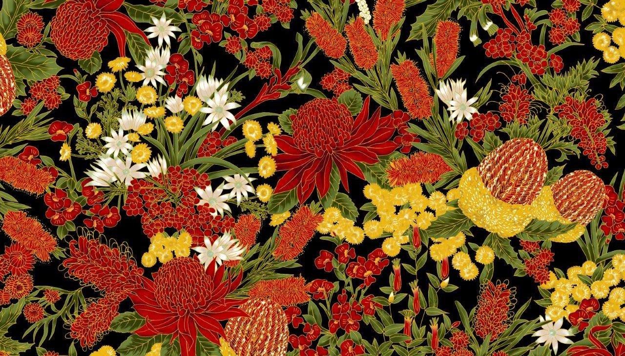 Chandler's Cottage - Floral Red/Black