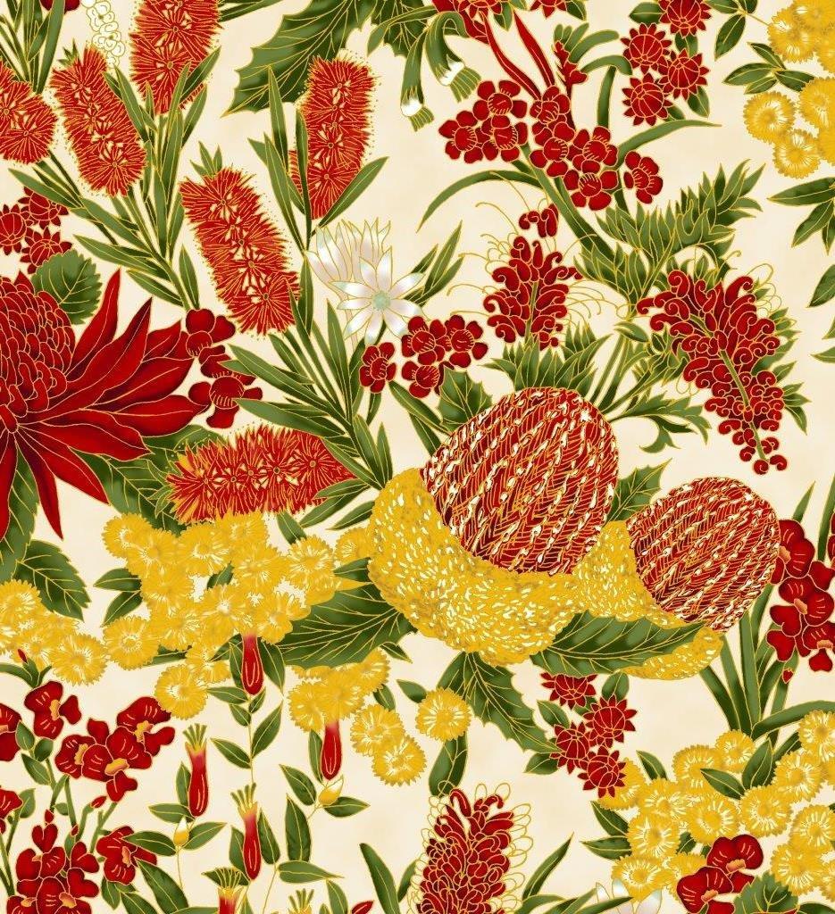 Chandler's Cottage - Floral Red/Ivory