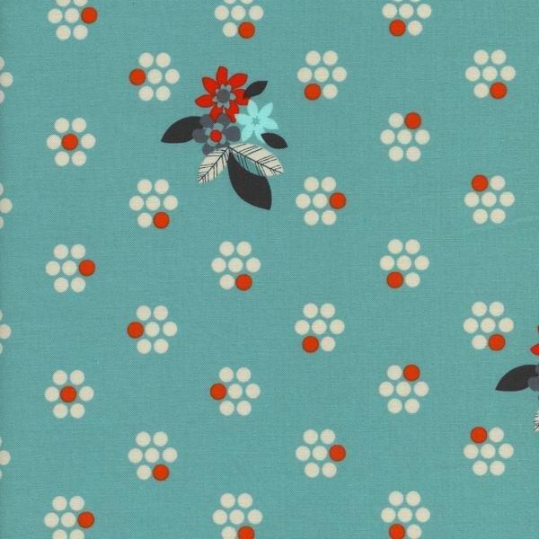 Fruit Dots - Fruit Blossoms Blue