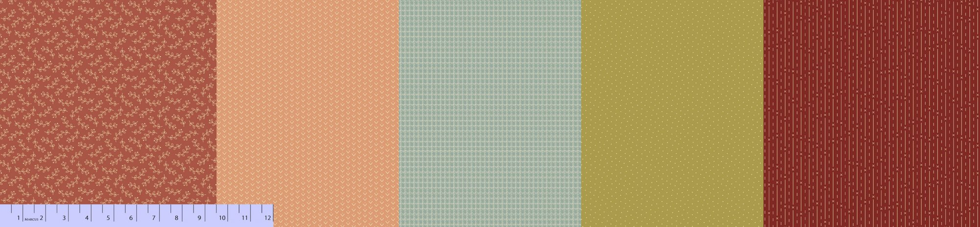 Sew Merry & Bright - Plumcute Pieces - Tonal Stripes