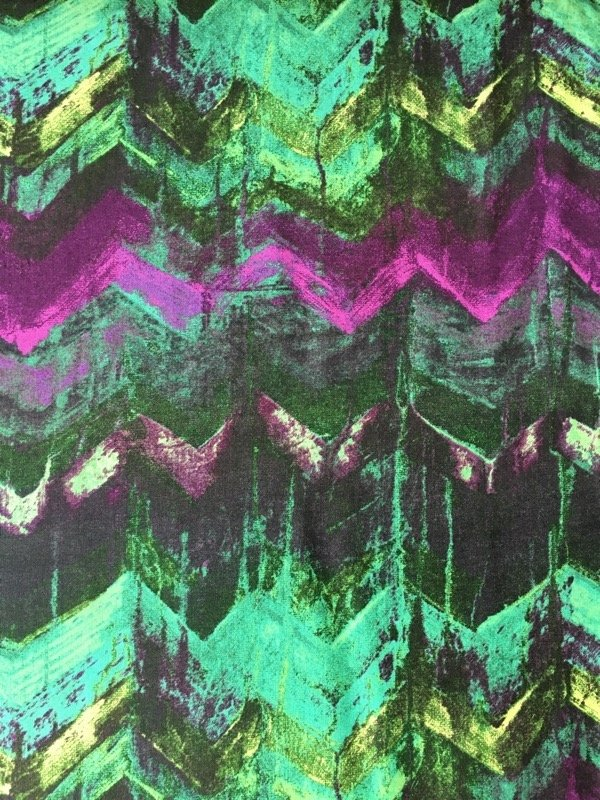 Daydreams III - Chevrons - Green + Purple