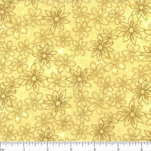 Sketched Floral Backing 108 - Yellow