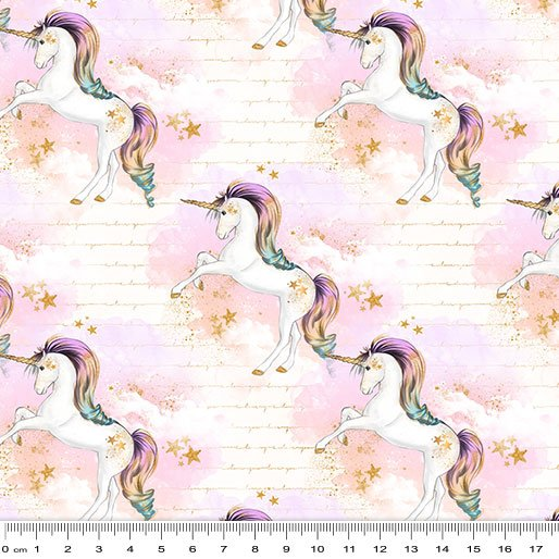 Rainbow Unicorns - Whispy Clouds - Cream
