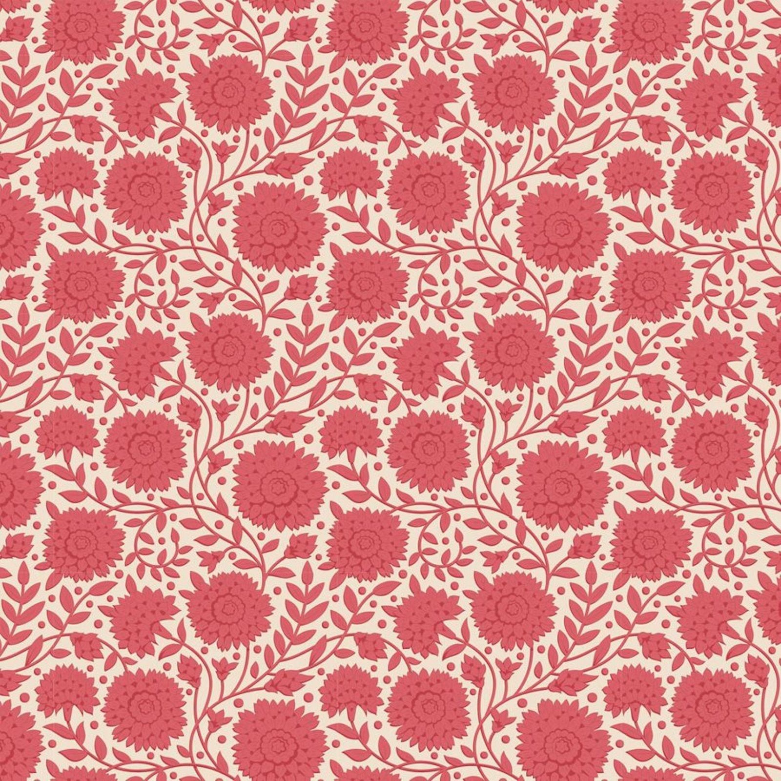 PRE-ORDER  - Tilda - Windy Days - Aella Floral Dusty Red