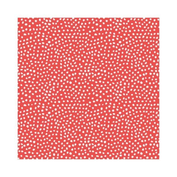 Doodle Blossoms - Small Dots - Red