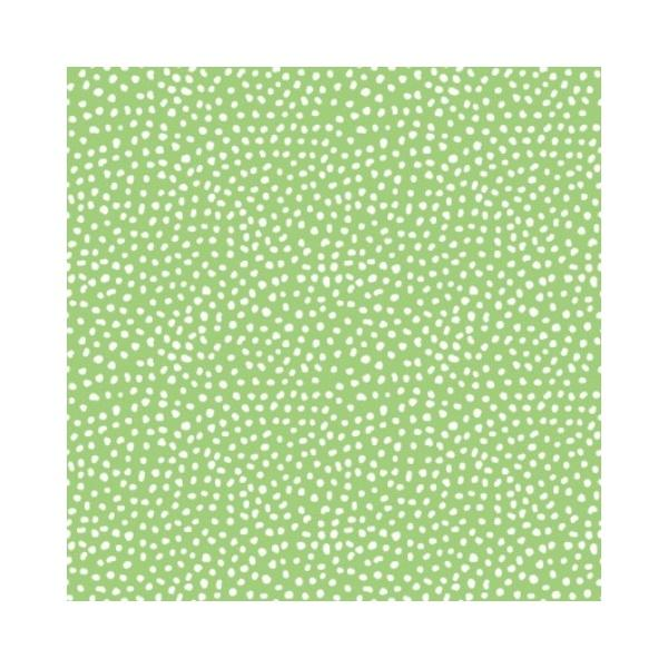 Doodle Blossoms - Small Dots - Green