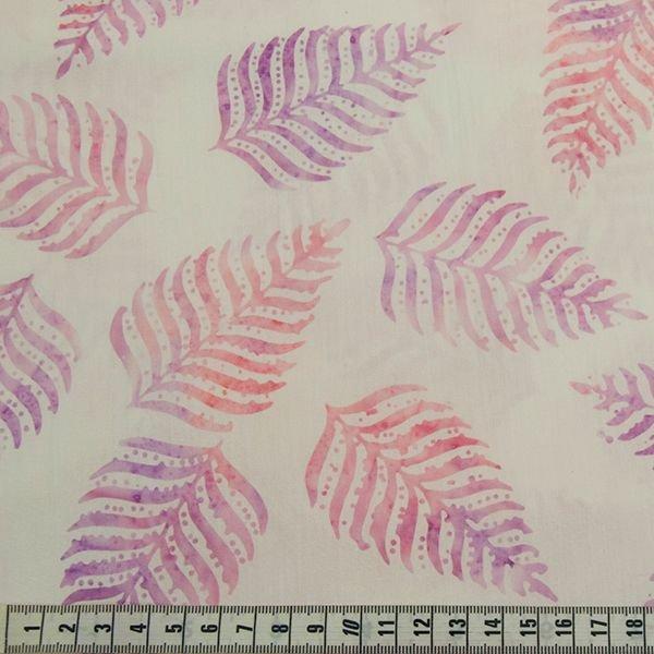 BeColourful Batik - Mauve Pink Fern