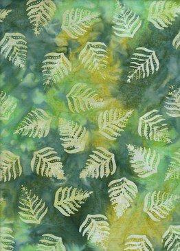 BeColourful Batik - Brilliant Green Fern Leaf