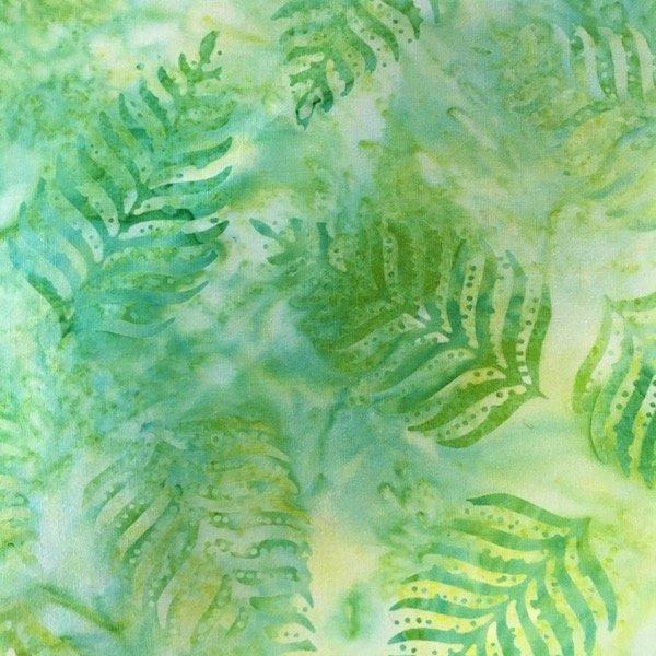 BeColourful Batik - Bright Green Fern Leaf