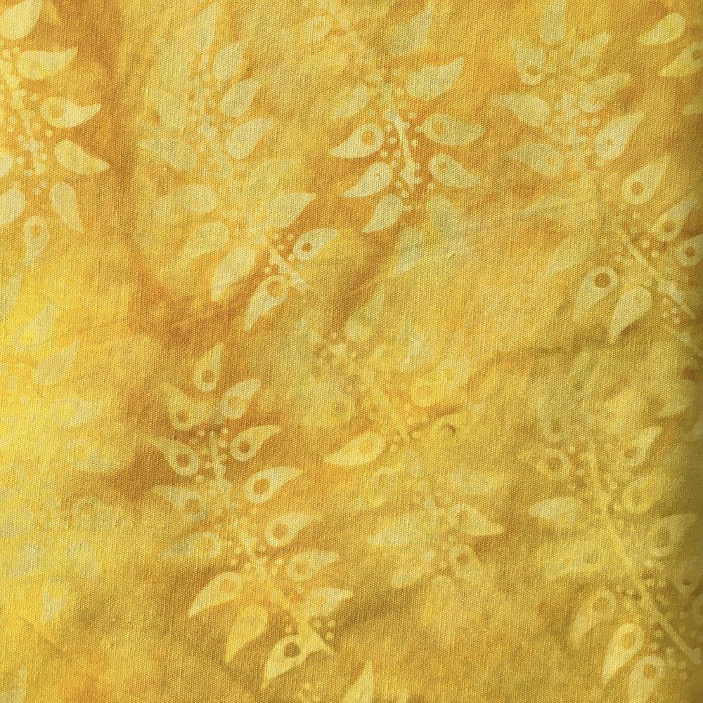 BeColourful Batik - Bright Yellow Leaf