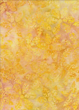 BeColourful Batik - Bright Yellow Flower