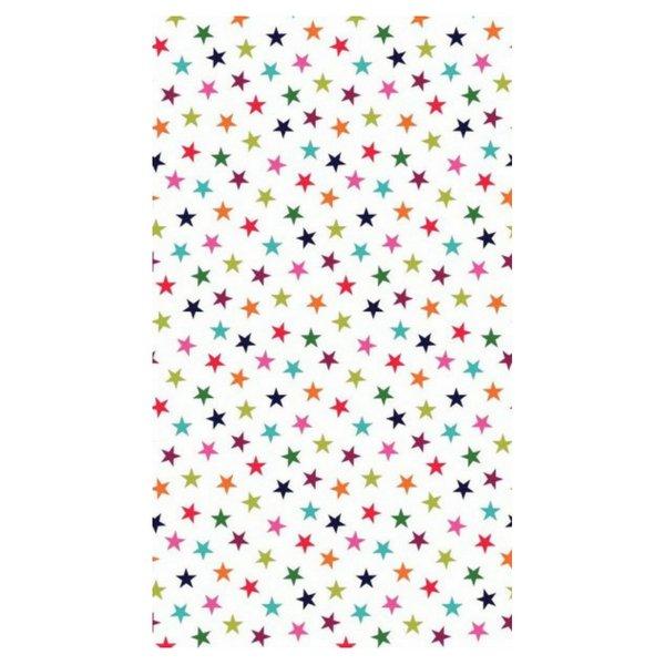 Multi Colour Star Print - White
