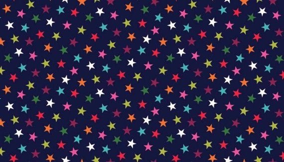 Multi Colour Star Print - Navy