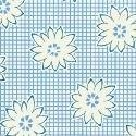 1930's Blue Floral 108 inch wide