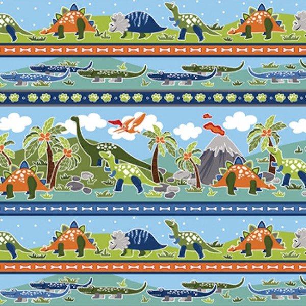 Dino Glow - Stripe Print