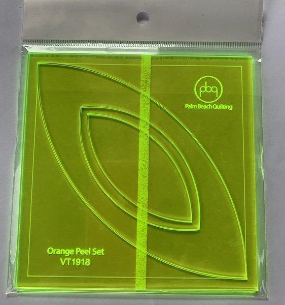 Fabric Frolic 2020 PBQ Orange Peel Template Set
