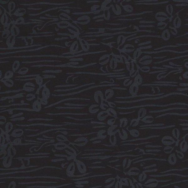 Bali Batiks - Linear Leaves Raven
